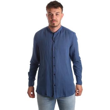 vaatteet Miehet Pitkähihainen paitapusero Antony Morato MMSL00547 FA400051 Sininen