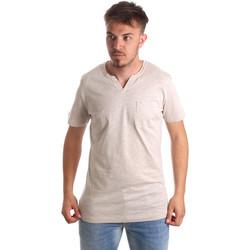 vaatteet Miehet Lyhythihainen t-paita Antony Morato MMKS01487 FA100139 Beige