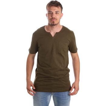 vaatteet Miehet Lyhythihainen t-paita Antony Morato MMKS01487 FA100139 Vihreä