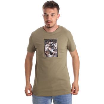 vaatteet Miehet Lyhythihainen t-paita Antony Morato MMKS01551 FA100144 Vihreä