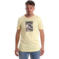 vaatteet Miehet Lyhythihainen t-paita Antony Morato MMKS01551 FA100144 Keltainen