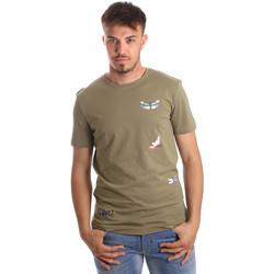 vaatteet Miehet Lyhythihainen t-paita Antony Morato MMKS01515 FA100144 Vihreä