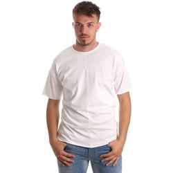 vaatteet Miehet Lyhythihainen t-paita Antony Morato MMKS01564 FA100189 Valkoinen