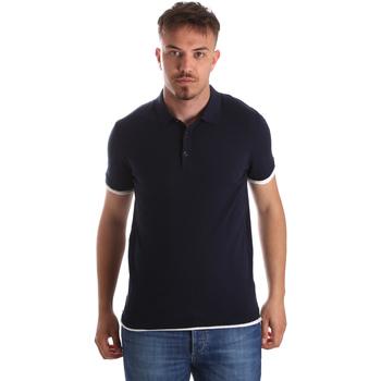 vaatteet Miehet Lyhythihainen poolopaita Gaudi 911FU53006 Sininen