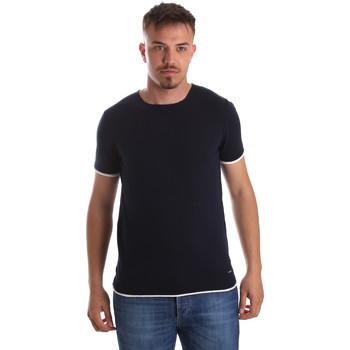 vaatteet Miehet Lyhythihainen t-paita Gaudi 911FU53007 Sininen