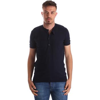 vaatteet Miehet Lyhythihainen t-paita Gaudi 911FU53008 Sininen