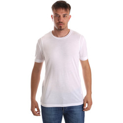 vaatteet Miehet Lyhythihainen t-paita Gaudi 911FU64005 Valkoinen