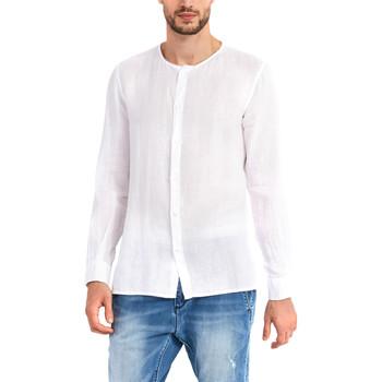 vaatteet Miehet Pitkähihainen paitapusero Gaudi 911BU45002 Valkoinen