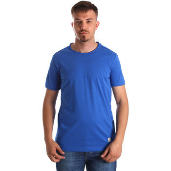 vaatteet Miehet Lyhythihainen t-paita Gaudi 911BU64023 Sininen