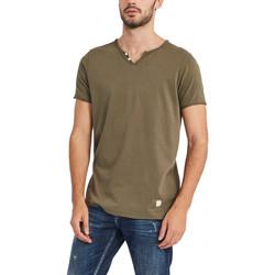 vaatteet Miehet Lyhythihainen t-paita Gaudi 911BU64024 Vihreä