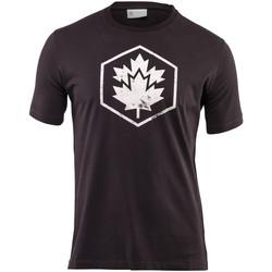 vaatteet Miehet Lyhythihainen t-paita Lumberjack CM60343 001 509 Musta