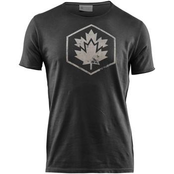 vaatteet Miehet Lyhythihainen t-paita Lumberjack CM60343 002 509 Musta
