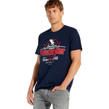vaatteet Miehet Lyhythihainen t-paita Wrangler W7C08F Sininen
