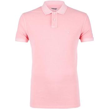 vaatteet Miehet Lyhythihainen poolopaita Wrangler W7C15K Vaaleanpunainen