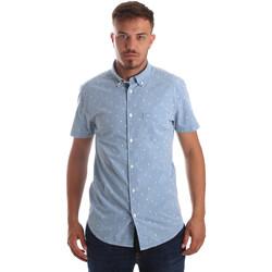 vaatteet Miehet Lyhythihainen paitapusero Wrangler W59446 Sininen