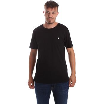 vaatteet Miehet Lyhythihainen t-paita Navigare NV31069 Musta