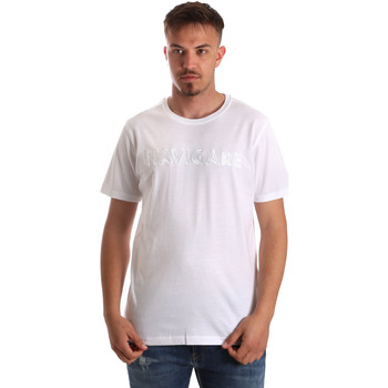 vaatteet Miehet Lyhythihainen t-paita Navigare NV31070 Valkoinen