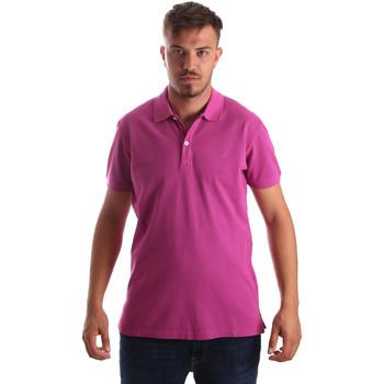 vaatteet Miehet Lyhythihainen poolopaita Navigare NV82086 Vaaleanpunainen