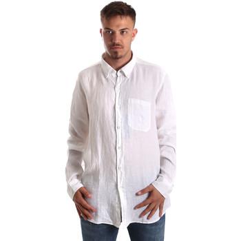 vaatteet Miehet Pitkähihainen paitapusero Navigare NV92067 BD Valkoinen