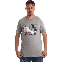 vaatteet Miehet Lyhythihainen t-paita Converse 10017575-A01 Harmaa