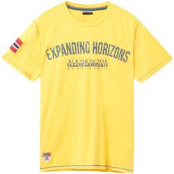 vaatteet Miehet Lyhythihainen t-paita Napapijri N0YIFP Keltainen