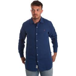 vaatteet Miehet Pitkähihainen paitapusero Napapijri N0YIL7 Sininen