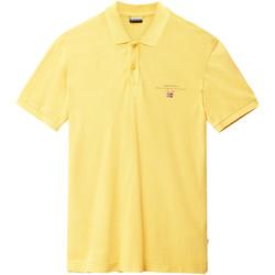 vaatteet Miehet Lyhythihainen poolopaita Napapijri N0YIJ5 Keltainen