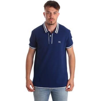 vaatteet Miehet Lyhythihainen poolopaita NeroGiardini P972210U Sininen