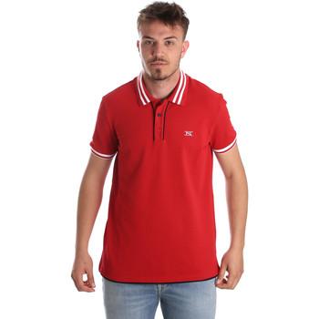 vaatteet Miehet Lyhythihainen poolopaita NeroGiardini P972210U Punainen