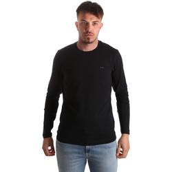 vaatteet Miehet T-paidat pitkillä hihoilla Key Up 2E96B 0001 Musta