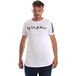 vaatteet Miehet Lyhythihainen t-paita Byblos Blu 2MT0016 TE0046 Valkoinen