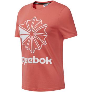 vaatteet Naiset Lyhythihainen t-paita Reebok Sport DT7223 Vaaleanpunainen