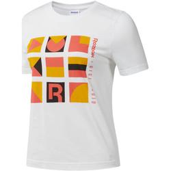 vaatteet Naiset Lyhythihainen t-paita Reebok Sport DY9368 Valkoinen