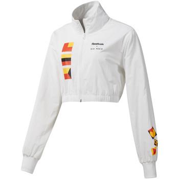 vaatteet Naiset Pusakka Reebok Sport DY9376 Valkoinen