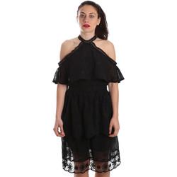 vaatteet Naiset Lyhyt mekko Fracomina FR19SP539 Musta