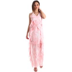 vaatteet Naiset Pitkä mekko Fracomina FR19SP429 Vaaleanpunainen