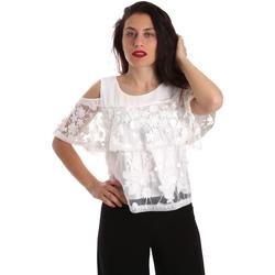 vaatteet Naiset Topit / Puserot Fracomina FR19SP605 Valkoinen