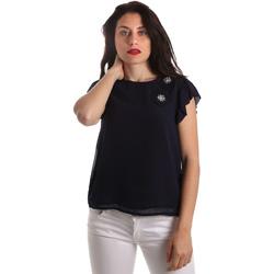 vaatteet Naiset Topit / Puserot Fracomina FR19SP567 Sininen