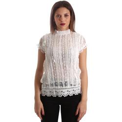 vaatteet Naiset Topit / Puserot Fracomina FR19SP521 Valkoinen