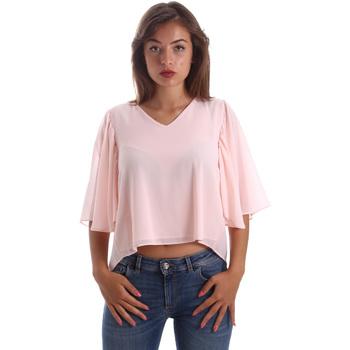 vaatteet Naiset Topit / Puserot Fracomina FR19SP468 Vaaleanpunainen