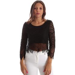 vaatteet Naiset Topit / Puserot Fracomina FR19SP099 Musta