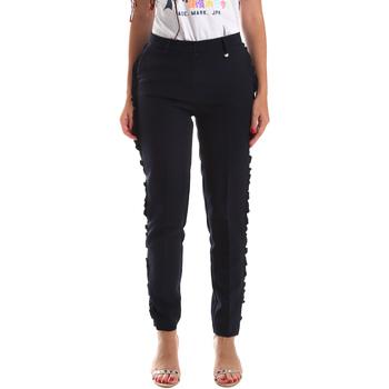 vaatteet Naiset Chino-housut / Porkkanahousut Fracomina FR19SP666 Sininen