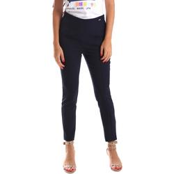 vaatteet Naiset Chino-housut / Porkkanahousut Fracomina FR19SP133 Sininen