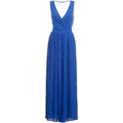 vaatteet Naiset Pitkä mekko Fracomina FR19SM673 Sininen
