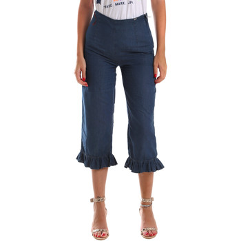 vaatteet Naiset 3/4 & 7/8-pituiset farkut Fracomina FR19SM502 Sininen