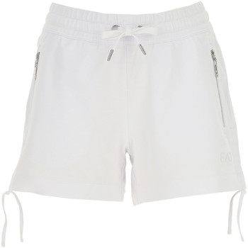vaatteet Naiset Shortsit / Bermuda-shortsit Ea7 Emporio Armani 3GTS52 TJ31Z Valkoinen