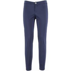 vaatteet Naiset Chino-housut / Porkkanahousut NeroGiardini P960510D Sininen