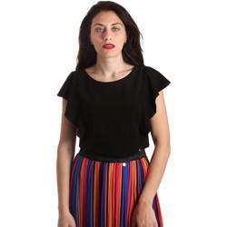 vaatteet Naiset Topit / Puserot NeroGiardini P962510D Musta