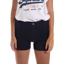 vaatteet Naiset Shortsit / Bermuda-shortsit Key Up 5L79G 0001 Sininen