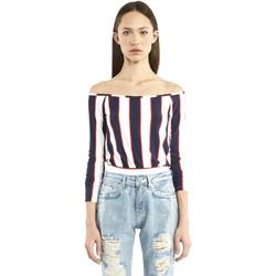 vaatteet Naiset T-paidat pitkillä hihoilla Denny Rose 911DD60016 Sininen